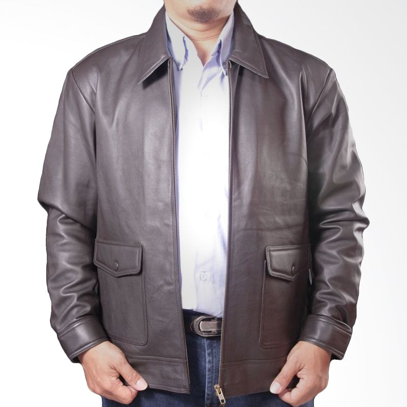 Sogno Leather Jacket 012 Men Jacket Black Jaket Pria