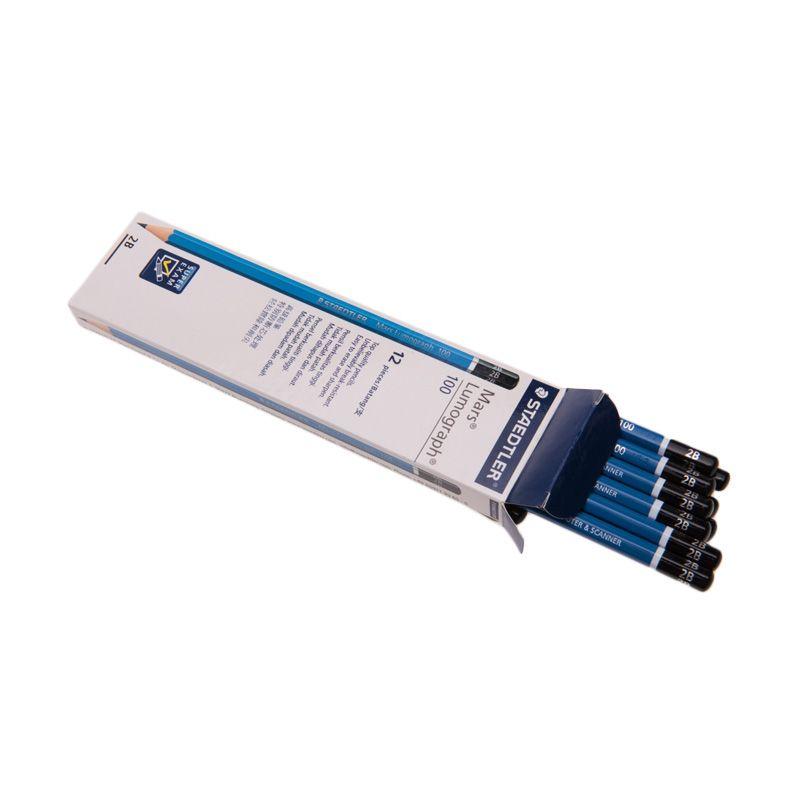 Staedtler Lumograph 2B Blue Pensil [12 Pcs]
