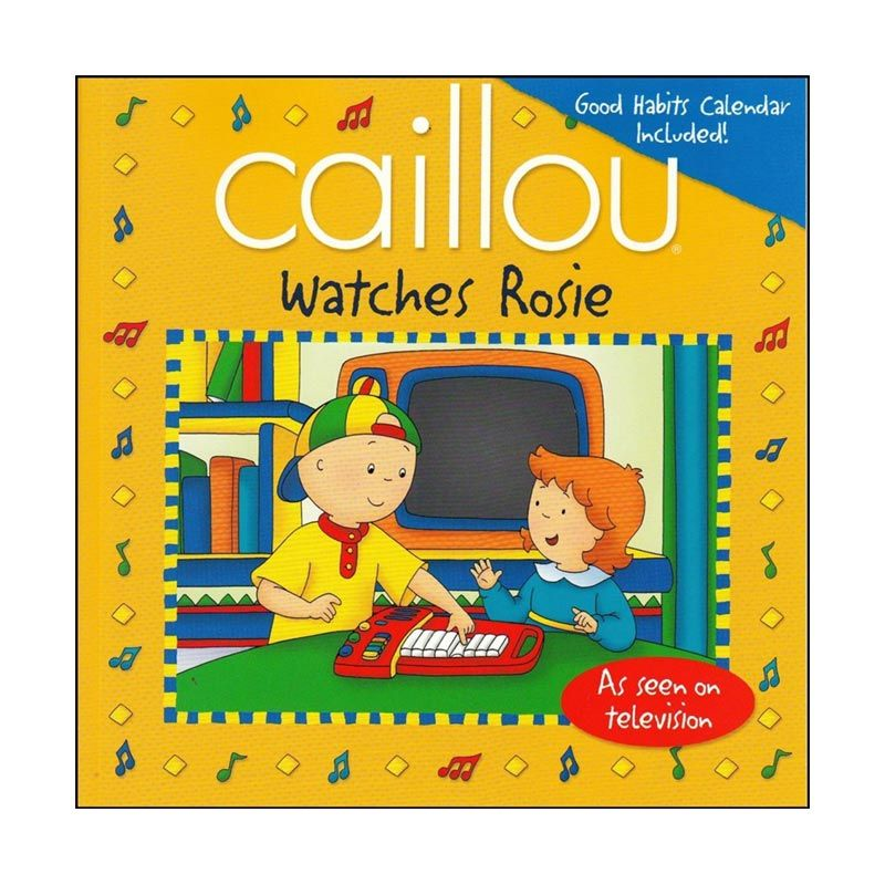 Caillou Watches Rosie Buku Anak