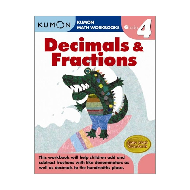 Grade 4 Decimals & Fractions Workbooks Buku Anak