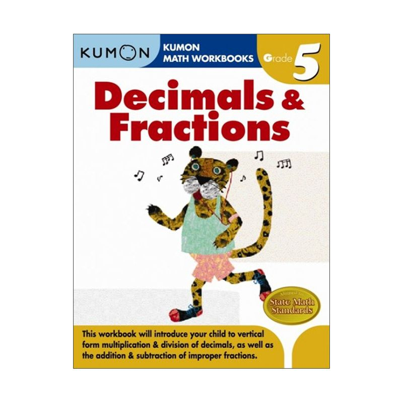 Grade 5 Decimals & Fractions Workbooks Buku Anak