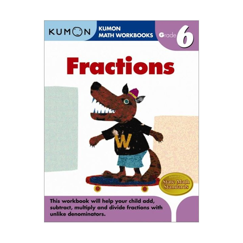 Grade 6 Fractions Workbooks Buku Anak