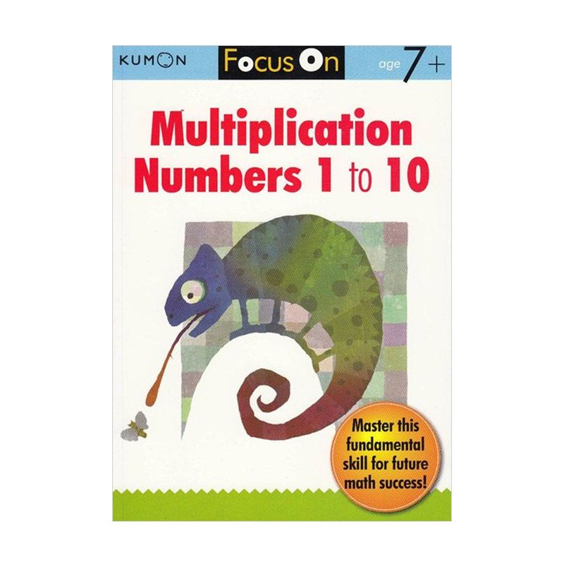 Kumon Focus on Multiplication Numbers 1-10 Buku Matematika