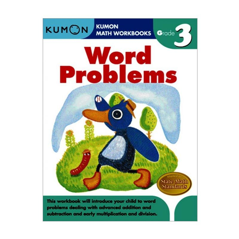 Kumon Grade 3 Word Problems Workbooks Buku Anak