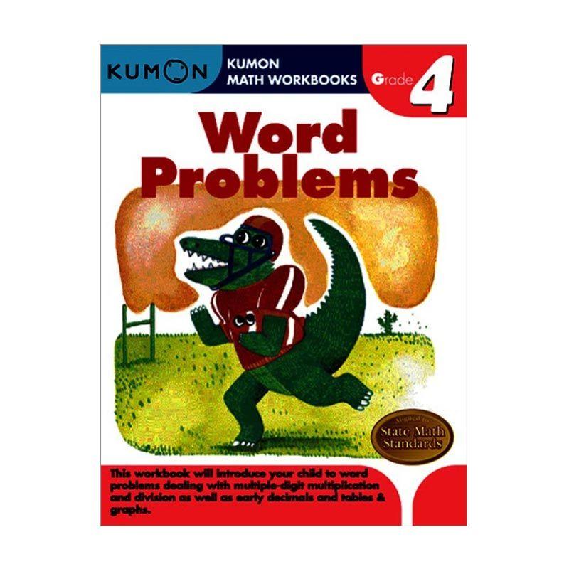 Kumon Grade 4 Word Problems Workbooks Buku Anak