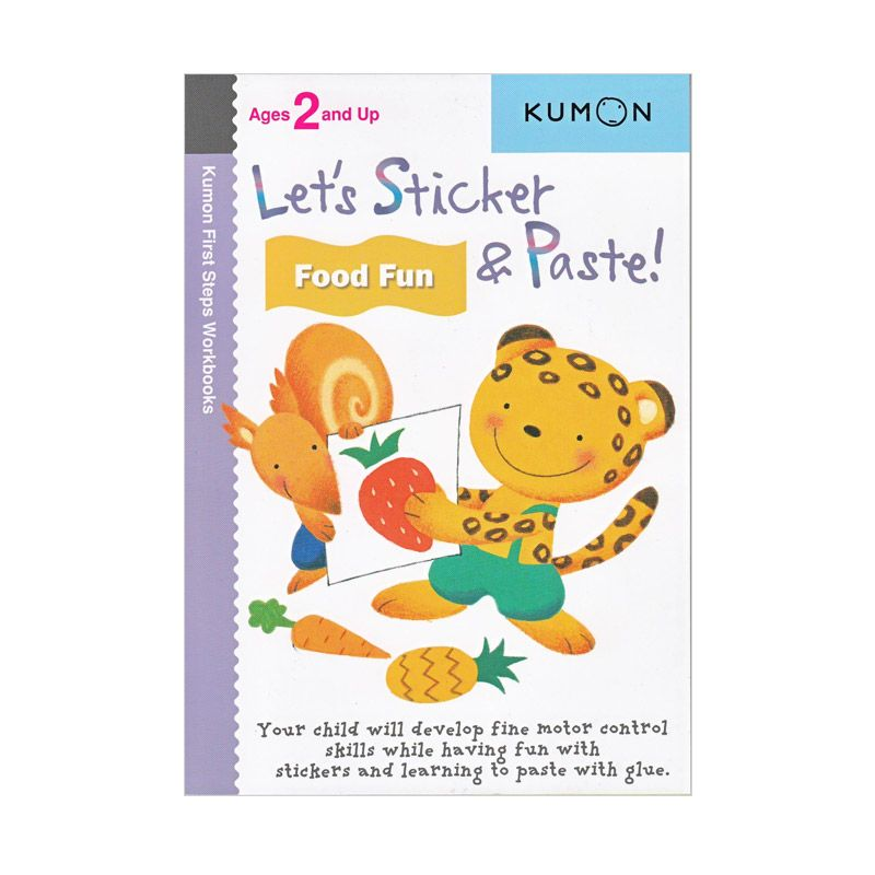 Kumon Lets Sticker and Paste Food Fun Buku Aktivitas
