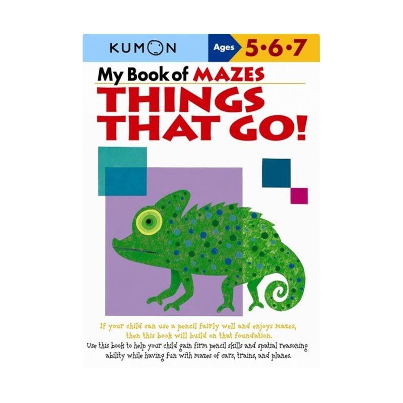 Kumon My Book of Mazes Things That Go Buku Anak