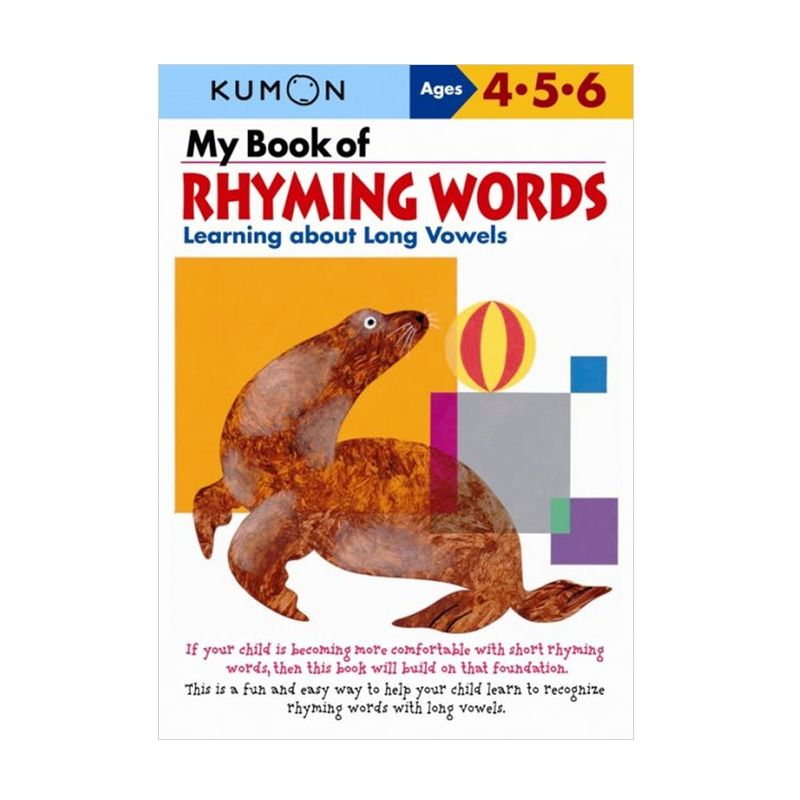 Kumon My Book of Rhyming Words Learning about Long Vowels Buku Anak
