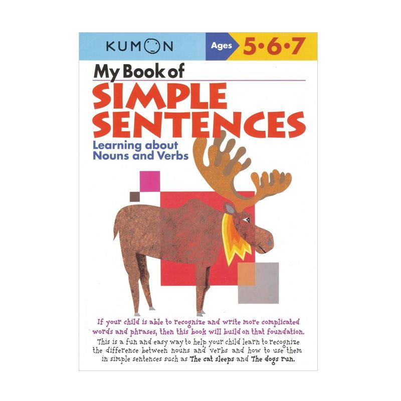 Kumon My Book of Simple Sentences Learning About Nouns and Verbs Buku Anak
