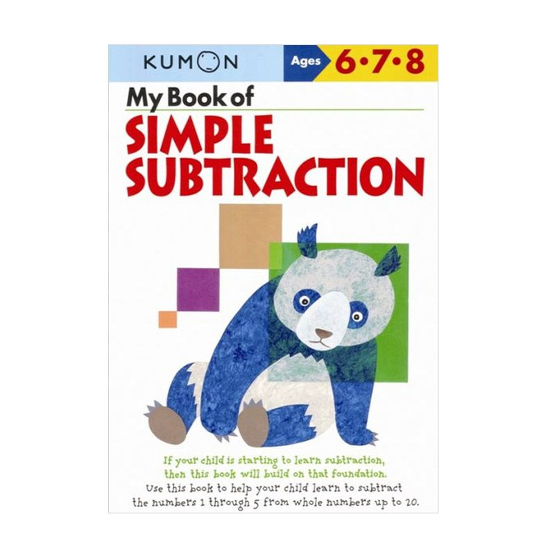 Kumon My Book of Simple Subtraction Buku Anak