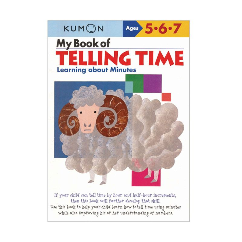 Kumon My Book Of Telling Time Learning About Minutes Buku Anak