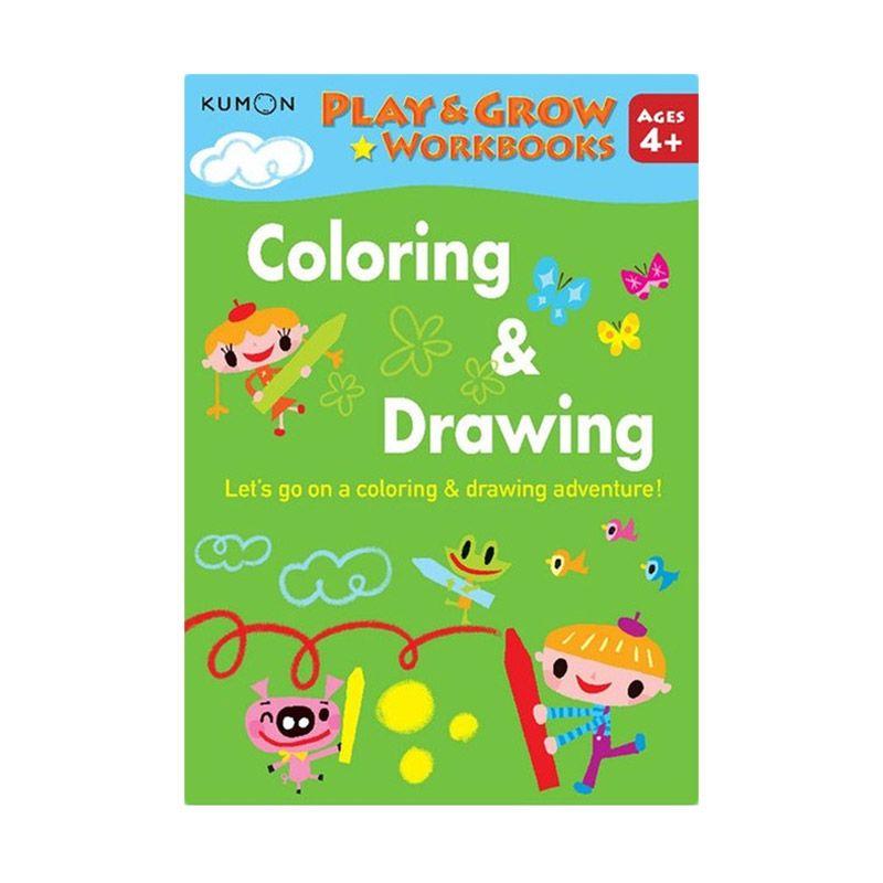 Kumon Play and Grow Coloring and Drawing Buku Gambar