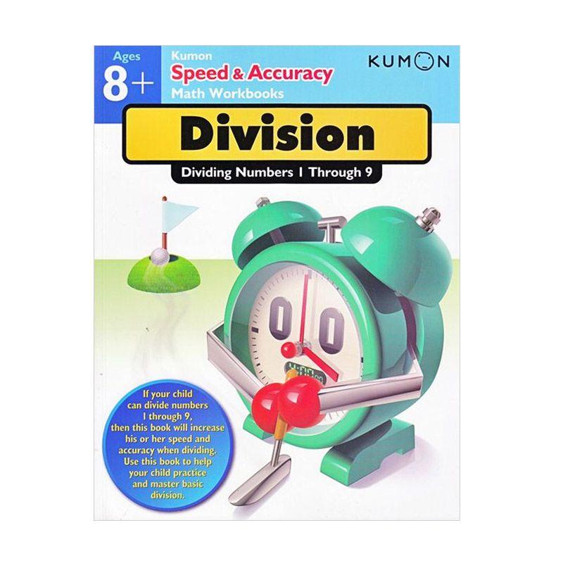 Kumon Speed and Accuracy Dividing Numbers 1-9 Buku Matematika