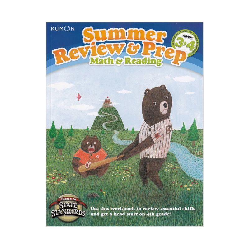 Kumon Summer Review and Prep 3-4 Buku Matematika