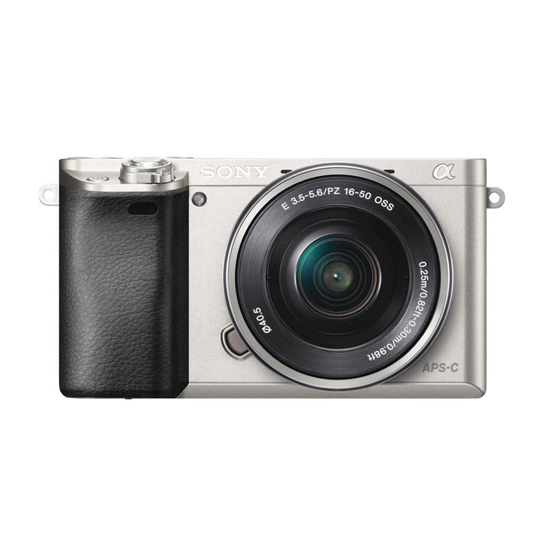 Sony Alpha Ilce A6000 Lensa Kit 16-50mm Kamera Mirrorless - Silver