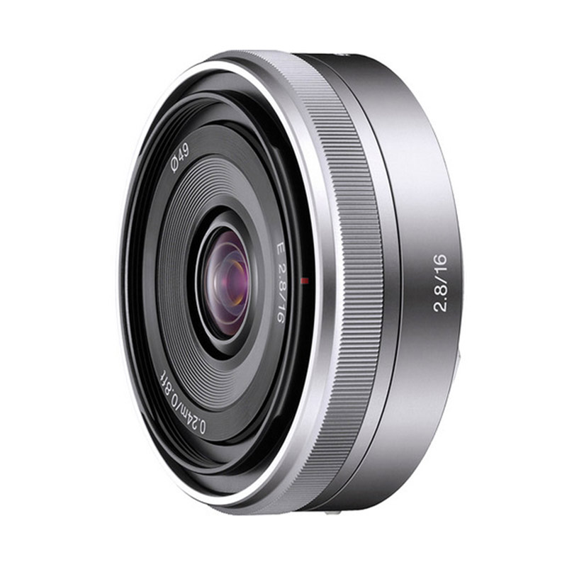 Sony 16mm f/2.8 E-Mount Lens Camera - silver