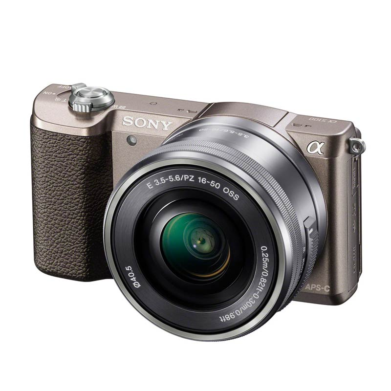 jual sony alpha 5100 kit 16 50mm brown kamera mirrorless online harga kualitas terjamin. Black Bedroom Furniture Sets. Home Design Ideas