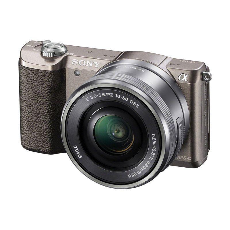 harga SONY Alpha A5100 Brown Kit with 16-50mm  Free SDHC 8GB Blibli.com
