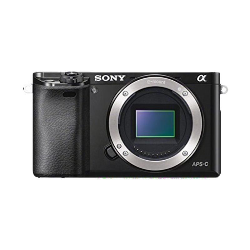 Sony Alpha A6000 Body Only Kamera Mirrorless - Black + LCD Screen Guard