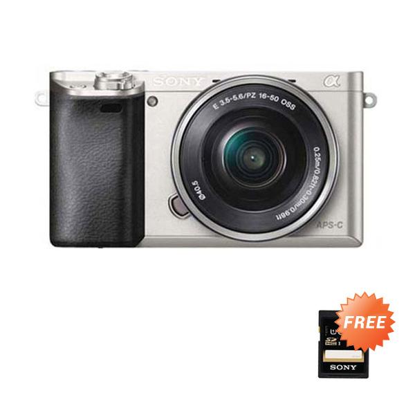 Sony Alpha A6000L Kit 16-50mm PZ OSS Kamera Mirrorless - Silver