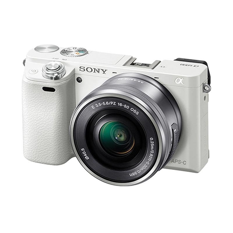 Sony Alpha A6000 Kit 16-50mm White - Kamera Mirrorless