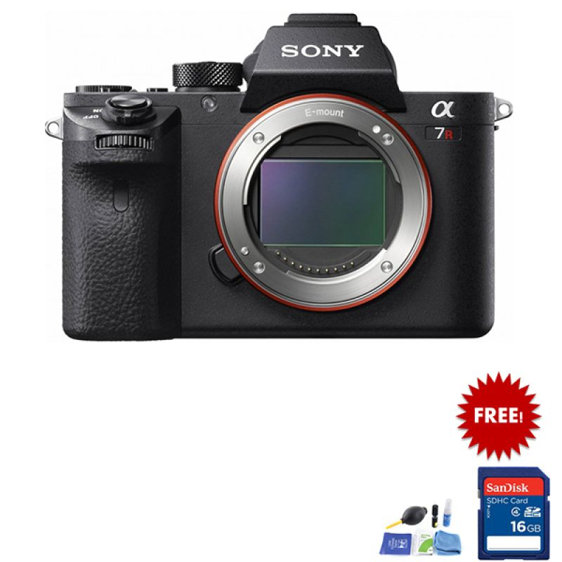 Sony Alpha A7R II Body Kamera Mirrorless + Cleaning Kit + SDHC 16 GB