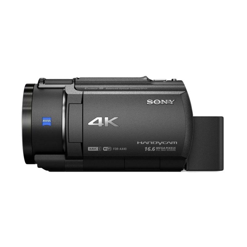 Sony FDR AX 40 Camcorder - Black Extra diskon 7% setiap hari Extra diskon 5% setiap hari Citibank – lebih hemat 10%