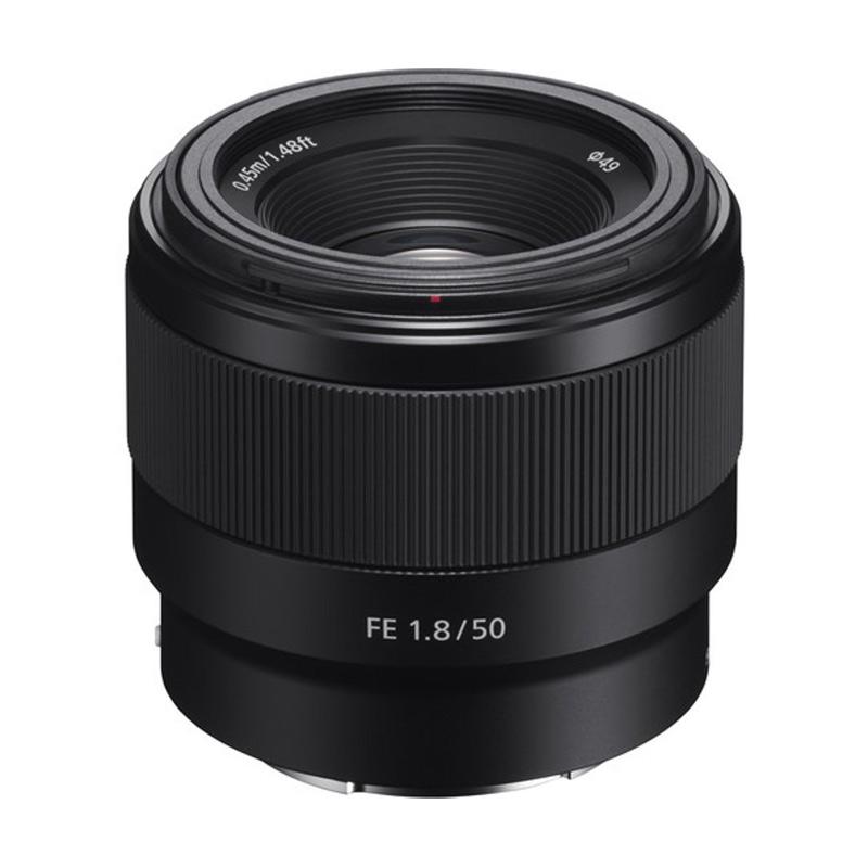 Sony 50mm - Sony FE 50mm F1.8 Lensa Kamera - Hitam