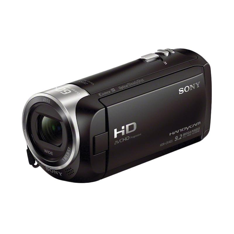 Sony HDR-CX405 HD Kamera Video - Hitam + Free Memory MicroSD 8 GB