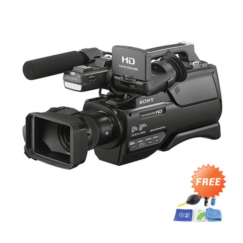 harga Sony HXR MC2500 Shoulder Mount AVCHD Hitam Camcorder + Cleaning Kit CPLPhotolovers Blibli.com