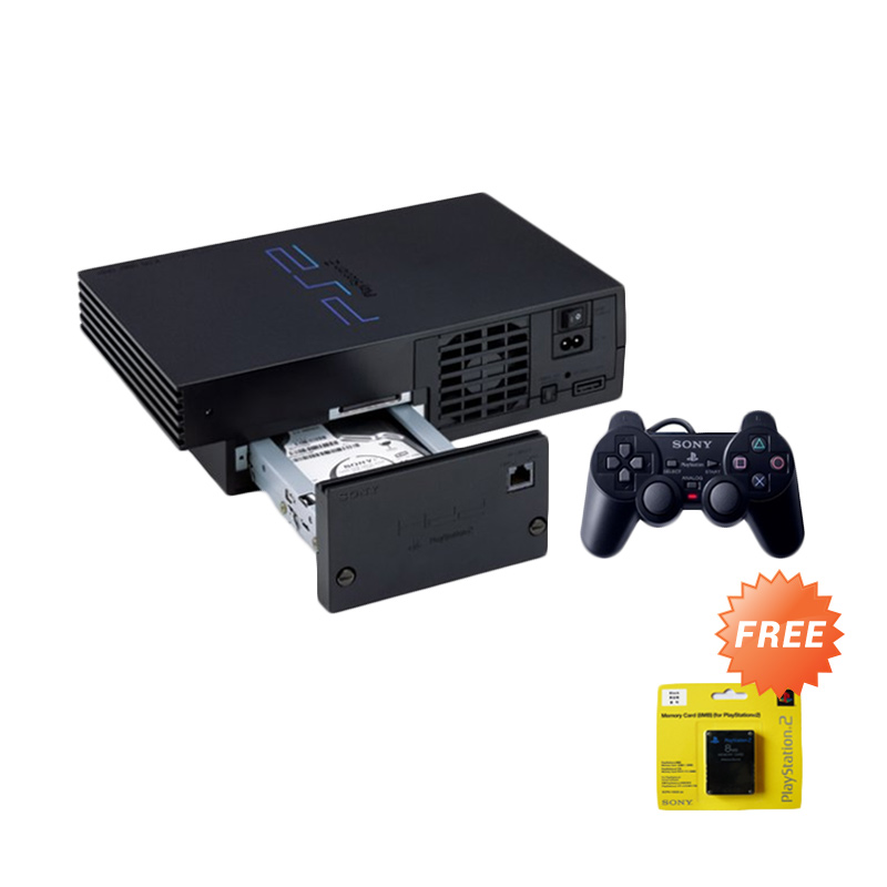 Sony Playstation 2 Fat Game Console [Network HDD Internal 160GB] + Free Memory Card