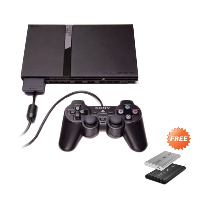 Sony PlayStation 2 Slim Series 7 Game Console [Refurbish/80 GB] + Free 100 Games Dan 10 Disc
