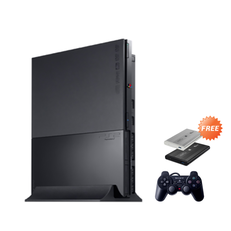 sony playstation 2 slim. sony playstation 2 slim series 9 game console [ref/80gb] + free 100 i