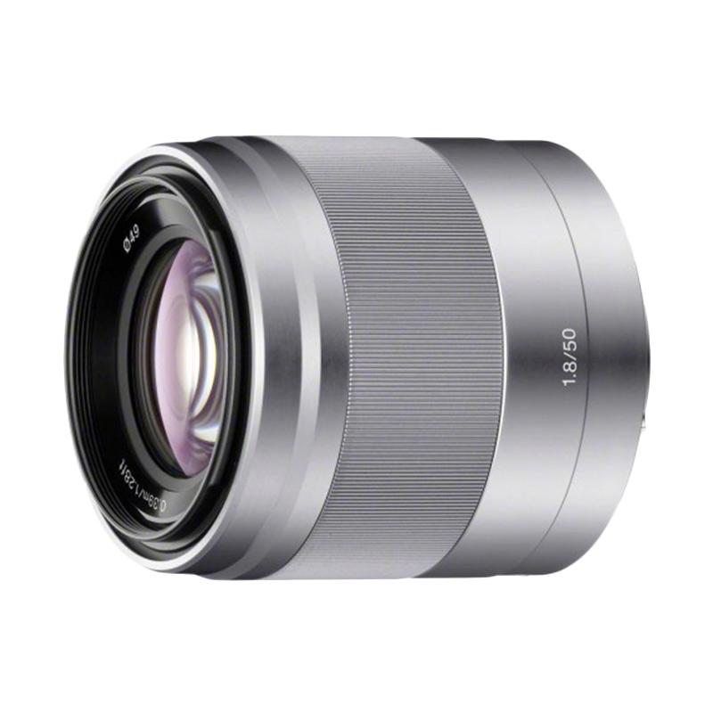 Sony SEL 50mm F1.8 OSS Silver Lensa Kamera