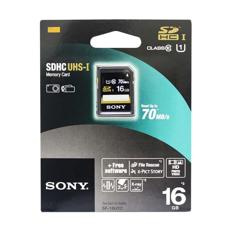 harga Sony SF-16UY2/T1 SDHC Memory Card [16 GB/ 70 Mbps] Blibli.com