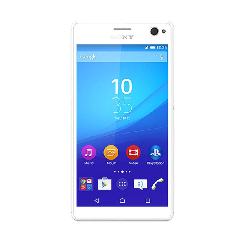 harga Sony Xperia C4 Dual Smartphone - White [16GB/ 2GB/ LTE] - Garansi Resmi Blibli.com