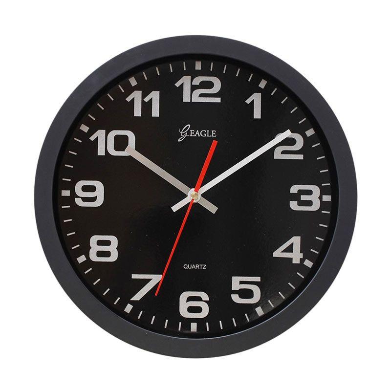 Eagle Souvenir Online Hitam Jam Dinding [30 cm]
