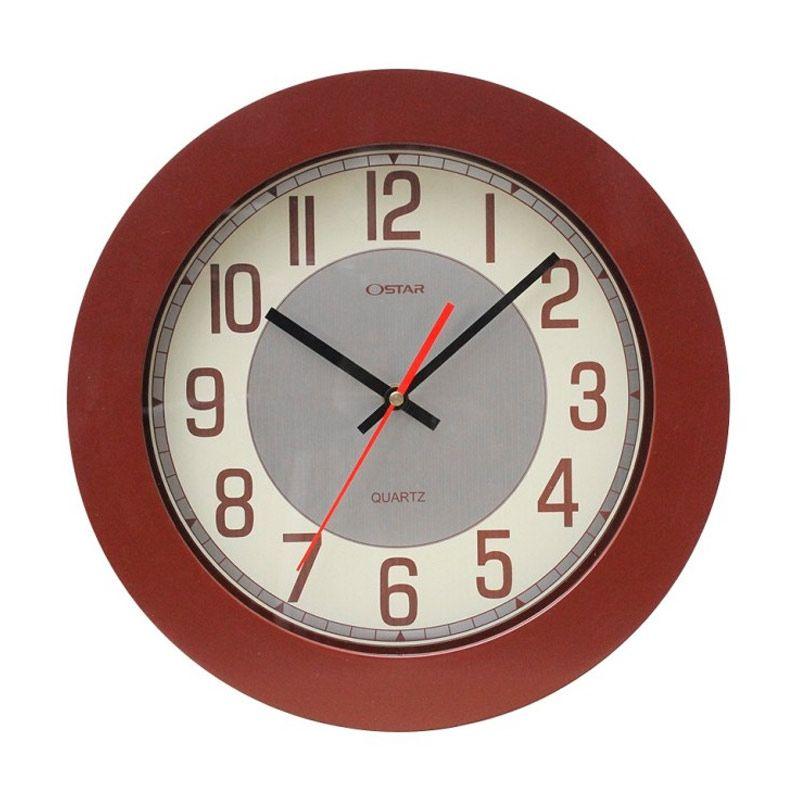 Ostar Souvenir Online Coklat Jam dinding [33 cm]
