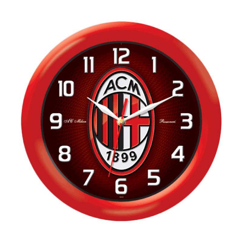 PSE Souvenir Online AC Milan Merah Jam Dinding [30 cm]