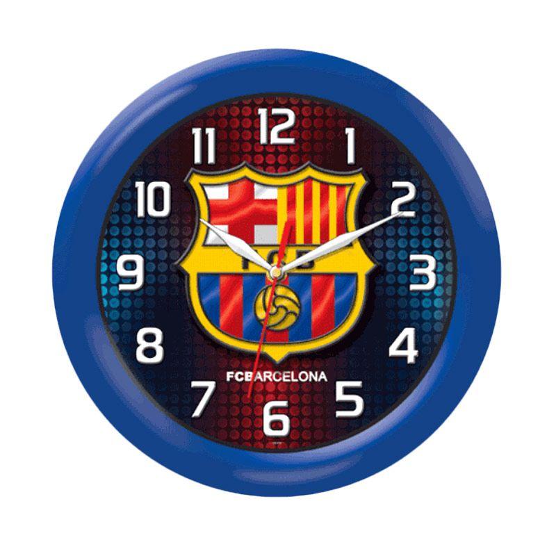 PSE Souvenir Online Barcelona Biru Jam Dinding [30 cm]