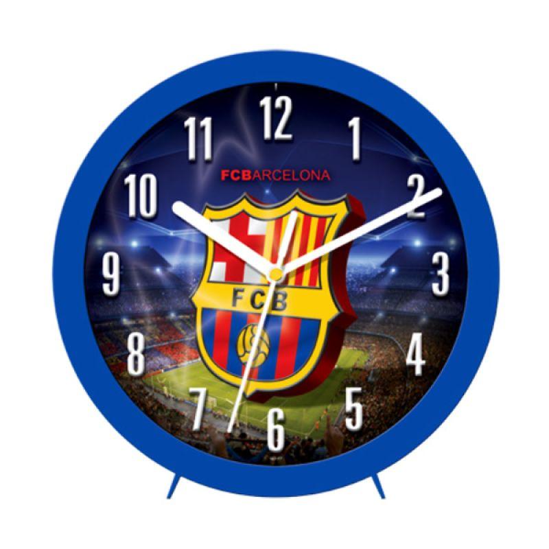 PSE Souvenir Online Seri Football Barcelona Blue Jam Dinding