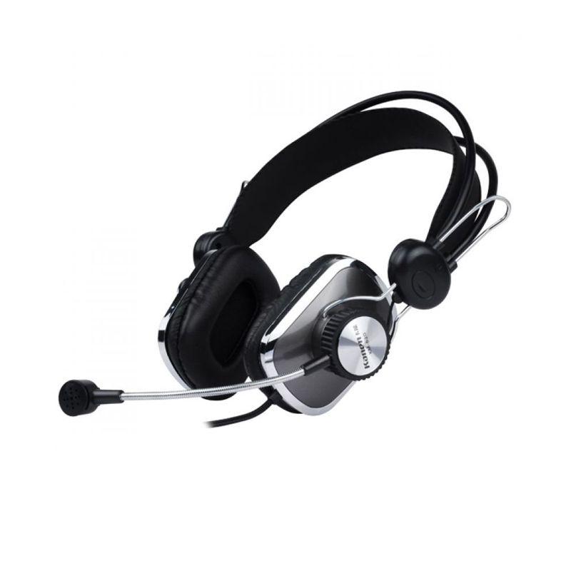 Kanen KM 630 + Mic Hitam Headset