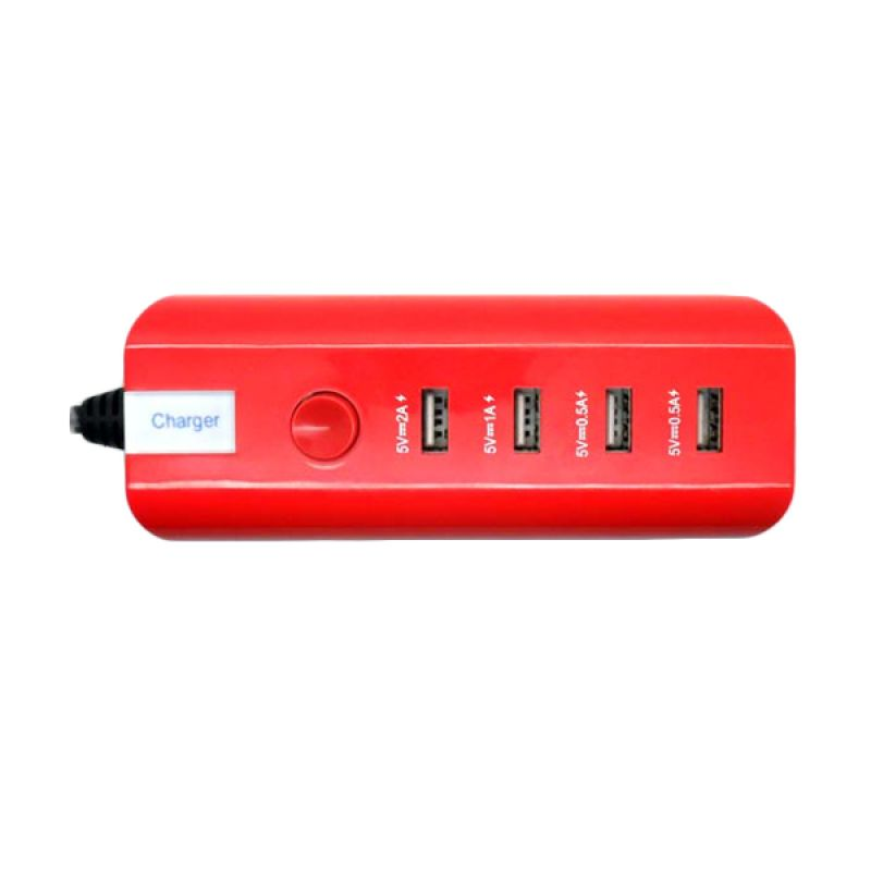 SP Blister Red USB Charger [4 Port]