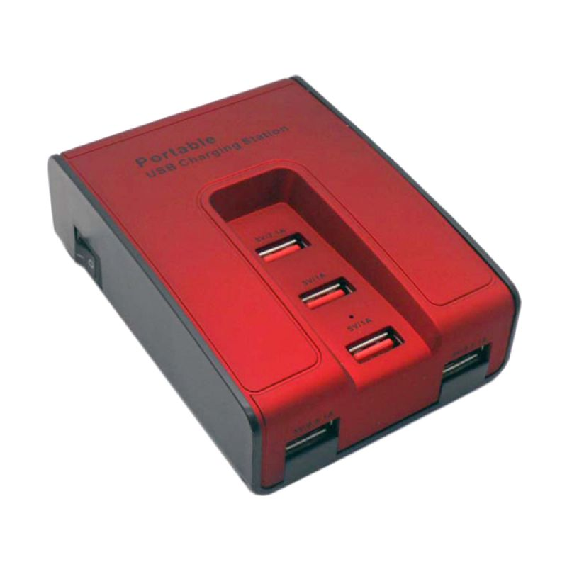 SP Merah USB Charger with Switch [5 Port]