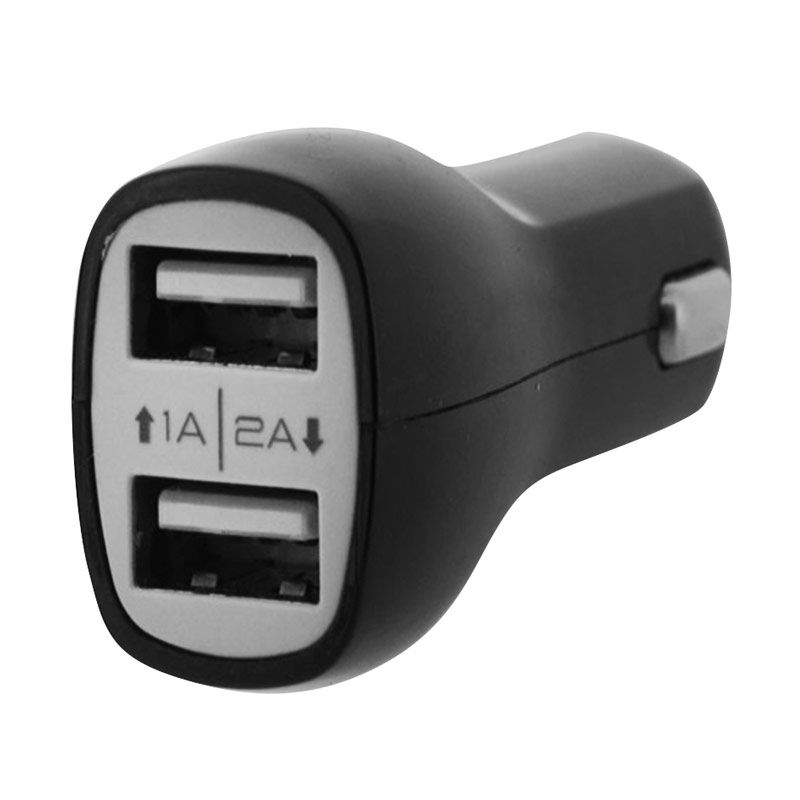 SPC Dual USB Hitam Charger Mobil