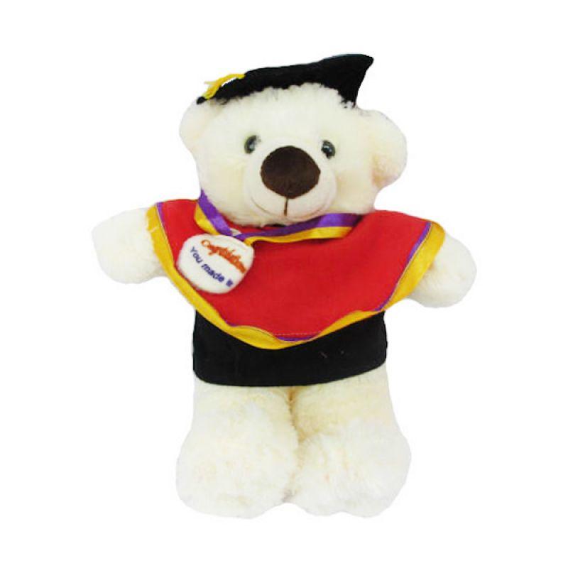 Spicegift Wisuda Teddy Bear Cream Boneka
