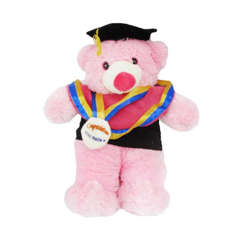 Spicegift Wisuda Teddy Bear Pink Muda Boneka