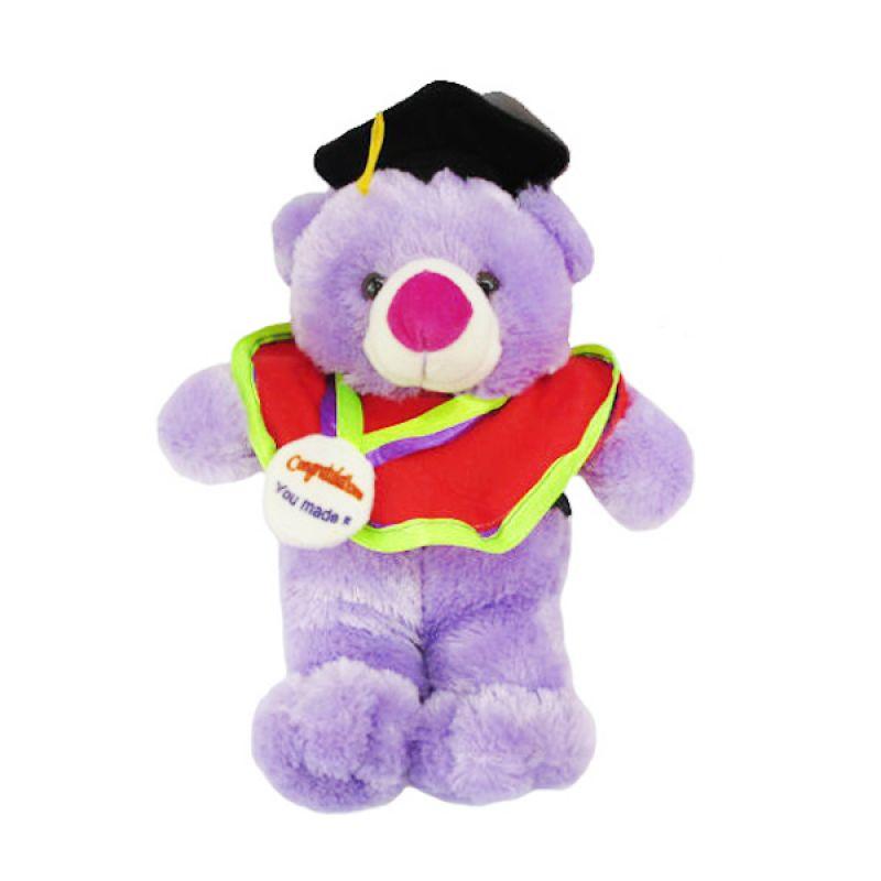 Spicegift Wisuda Teddy Bear Ungu Boneka