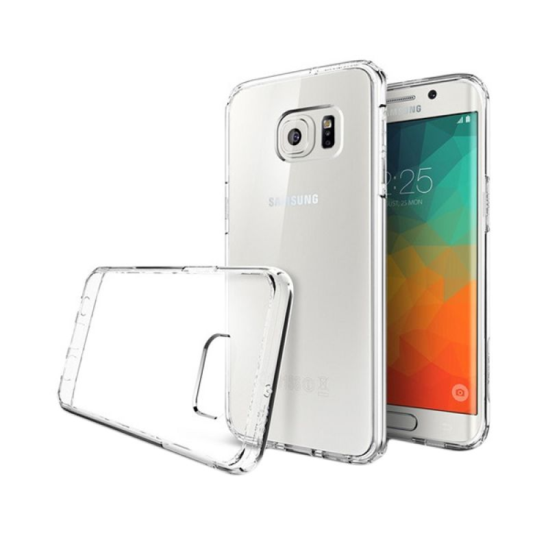 Spigen Capsule Ultra Hybrid Crystal Clear Casing for Samsung Galaxy S6 Edge Plus