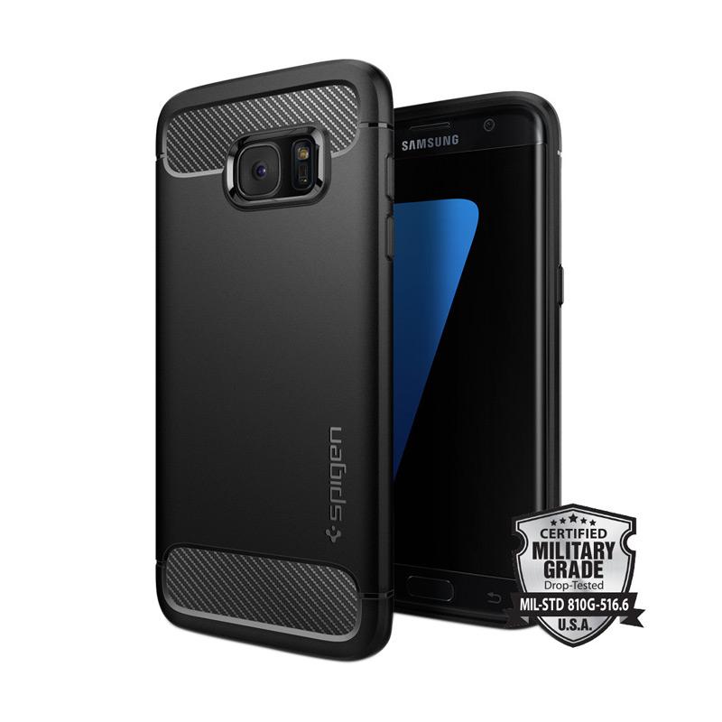 Harga Spigen Capsule Ultra Rugged Casing for Samsung Galaxy S7 Edge - Black Murah